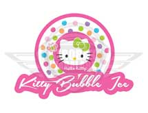 desain logo kitty bubble