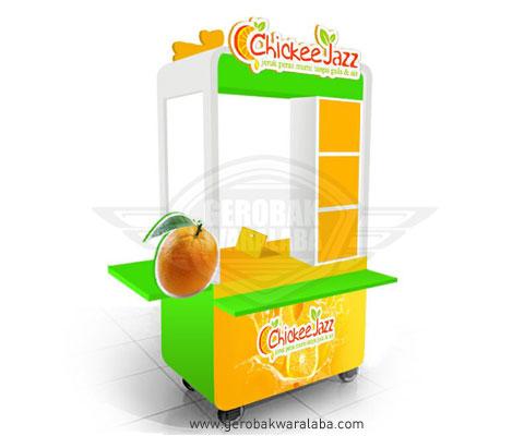 Gerobak jeruk peras murni